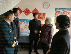 区领导春节前走访慰问基层群众